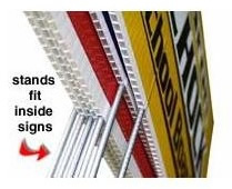 Corrugated Plastic Signs are easy to mount and set up.