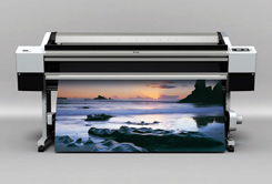 picture of full color vinyl banner printer