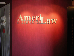 3D lettering for a distinguished law office sign
