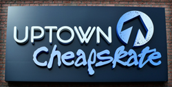 Logo and sign lettering in 3D for a business sign