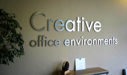 3D sign for an office