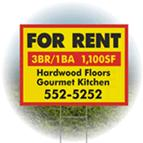 Corrugated Plastic Signs are the ideal material for real estate and political signage
