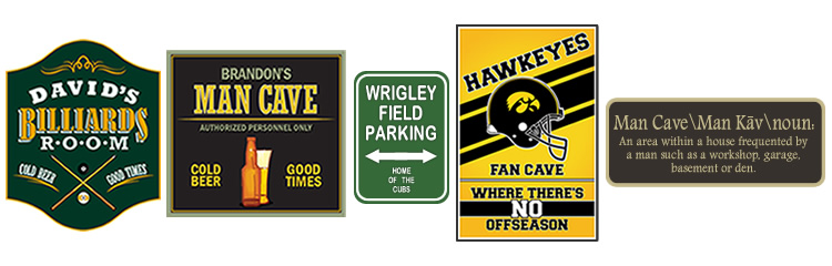 design ideas for your custom man cave sign - Sign Design Ideas