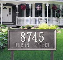 Yard Plaque Address Display