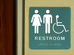 Example of a ADA Restroom Sign