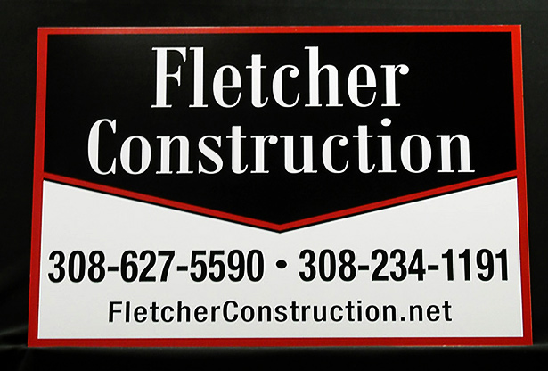 Custom Aluminum Metal Yard Sign Example