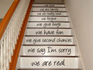 Decorative uses for vinyl, decorative lettering