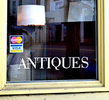 Antique Store Window and Door Lettering