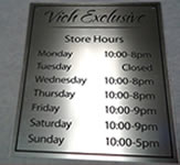Vich Exclusive Engraved Metal Sign
