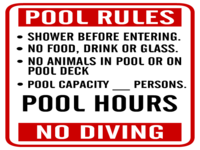 Customizable template for pool rules
