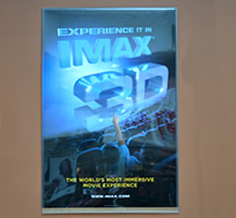poster made of foam core ultra advertising an imax movie