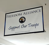Freedom Alliance Indoor Banner