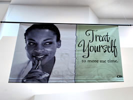 Example of vinyl indoor banner