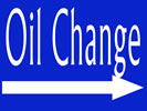 Browse oil change indoor sign templates