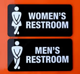 Restroom Indoor Wall Sign