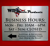 WD Products Indoor Wall Sign