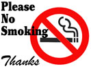 Browse no smoking indoor wall sign templates