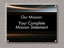 Browse acrylic mission statement sign templates