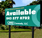 Sign Mounted on 2 Poles Examples