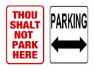 Browse parking post and pole sign templates
