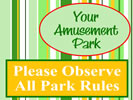 Browse amusement park roadside sign templates