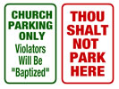 Browse humourous parking sign templates