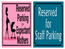 Browse reserved parking sign templates