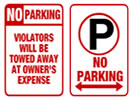 Browse traditional parking sign templates