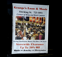 Example of a poster for a music shop