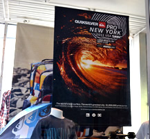 In-store poster advertising and display sample