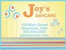 PVC daycare sign template example