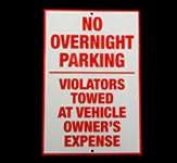 Customer Parking Reflective Sign