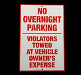 Customer Parking Reflective Sign