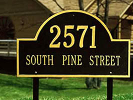 Example of residential sign