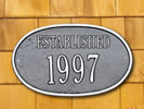 Browse oval residential plaques