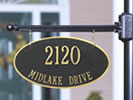 Browse two-sided residential plaques