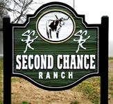Second Chance Ranch Roadside Sign