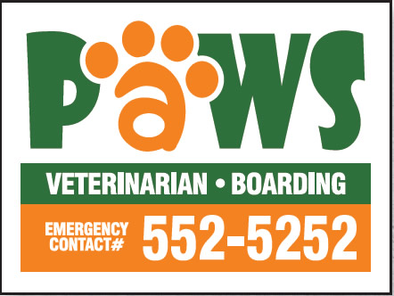 Paws Veterinarian Two Color Sign