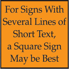 Square Sign Made For Alot Of Text