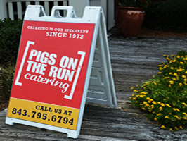 Example of sidewalk  sign