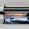 A Printer in the Midst of Printing a Full-Color Vinyl Banner Photographic Reproduction