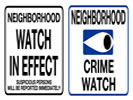 Browse neighborhood watch street sign templates