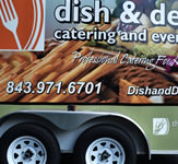 Full size vehicle graphics on a catering van