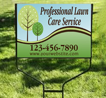 Professional Lawn Care Yard Sign