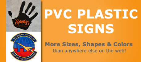 Example of a PVC plastic sign