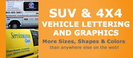 Example of SUV lettering or graphics