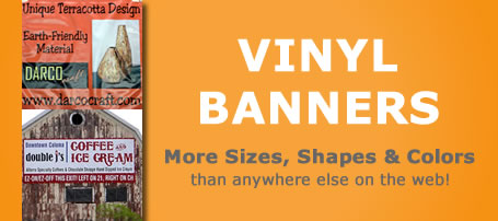 Example of a vinyl banner