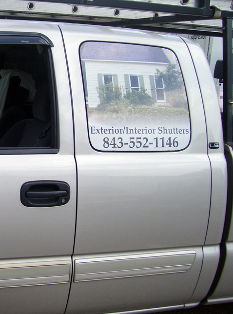 Example of window perf on a pick-up truck