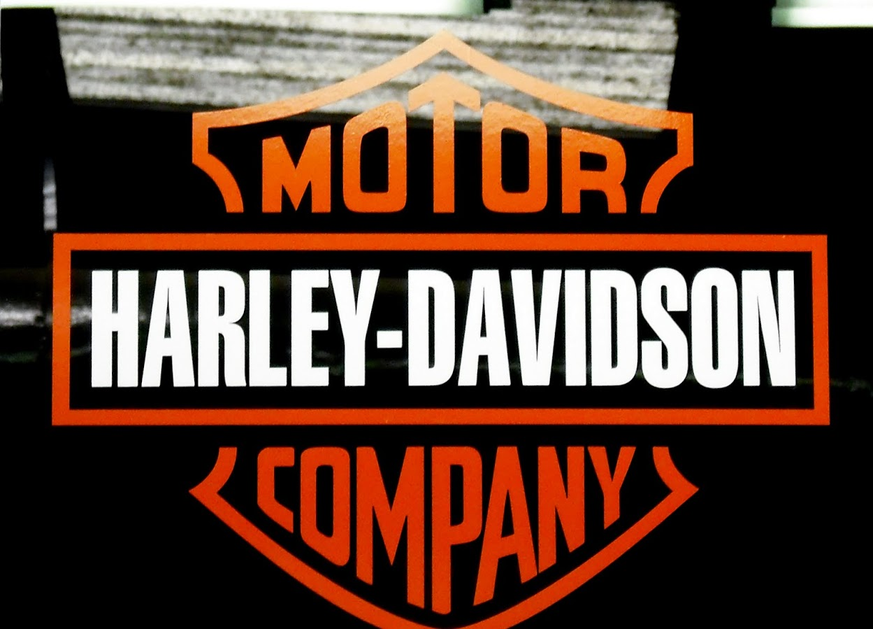 Red and Black Harley Davidson Logo