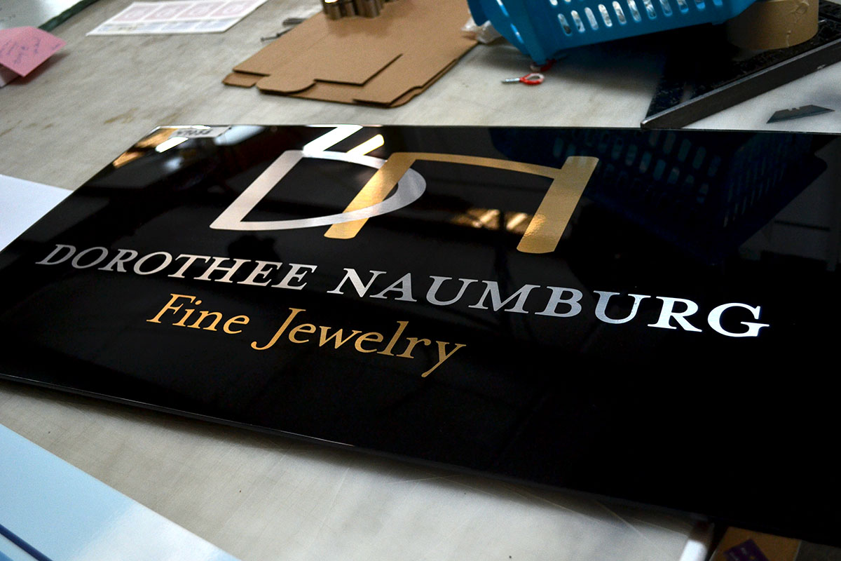 high end custom upgrades that get your business signs noticed With gold foil vinyl lettering